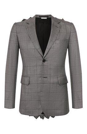 Мужской шерстяной пиджак COMME DES GARCONS HOMME PLUS серого цвета, арт. PE-J008-051 | Фото 1
