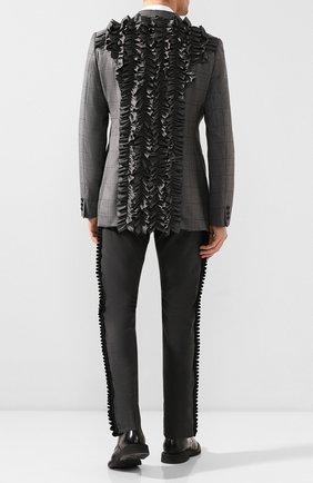 Мужской шерстяной пиджак COMME DES GARCONS HOMME PLUS серого цвета, арт. PE-J008-051 | Фото 2