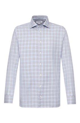 Мужская сорочка из смеси хлопка и льна ETON голубого цвета, арт. 1000 01199 | Фото 1