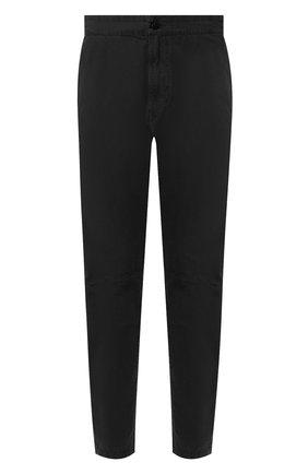 Мужской хлопковые брюки STONE ISLAND черного цвета, арт. 7215309WA | Фото 1