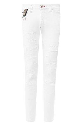 Мужские джинсы PHILIPP PLEIN белого цвета, арт. P20C MDT2088 PDE004N | Фото 1