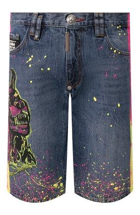 Мужские джинсовые шорты PHILIPP PLEIN голубого цвета, арт. P20C MDT2039 PDE004N | Фото 1