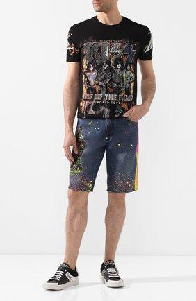 Мужские джинсовые шорты PHILIPP PLEIN голубого цвета, арт. P20C MDT2039 PDE004N | Фото 2