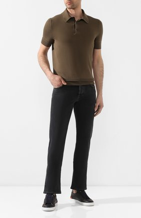 Мужские джинсы JACOB COHEN черного цвета, арт. J620 C0MF 00947-W1/53 | Фото 2