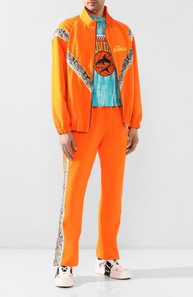 Мужской бомбер JUST DON оранжевого цвета, арт. 0JTJ_0RN   Фото 2