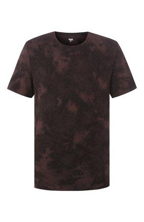 Мужская хлопковая футболка PAIGE темно-коричневого цвета, арт. M878F95-8053 | Фото 1