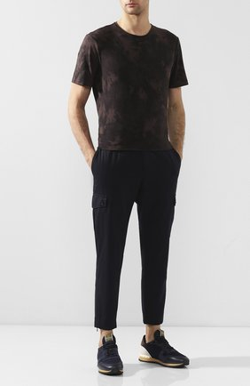 Мужская хлопковая футболка PAIGE темно-коричневого цвета, арт. M878F95-8053 | Фото 2