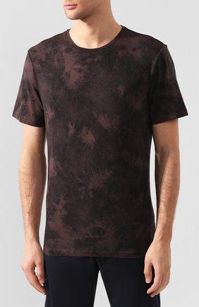 Мужская хлопковая футболка PAIGE темно-коричневого цвета, арт. M878F95-8053 | Фото 3