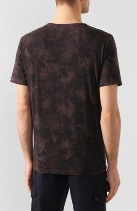 Мужская хлопковая футболка PAIGE темно-коричневого цвета, арт. M878F95-8053 | Фото 4