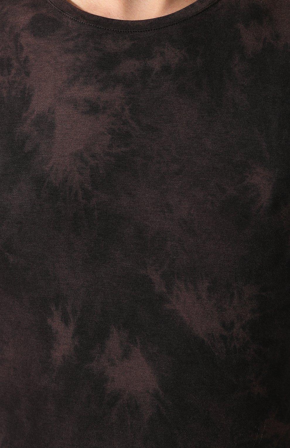Мужская хлопковая футболка PAIGE темно-коричневого цвета, арт. M878F95-8053 | Фото 5