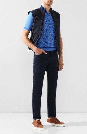 Мужские джинсы ZILLI темно-синего цвета, арт. MCT-ZS020-SP0RT/S001 | Фото 2