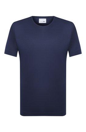 Мужская шелковая футболка ZILLI SPORT темно-синего цвета, арт. MBT-TSHIR-ZS660/MC01 | Фото 1