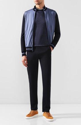 Мужская футболка из смеси льна и шелка ZILLI темно-синего цвета, арт. MBT-NT500-JELI1/MC02 | Фото 2