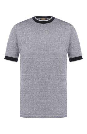 Мужская футболка из смеси льна и шелка ZILLI серого цвета, арт. MBT-NT500-JELI1/MC02 | Фото 1