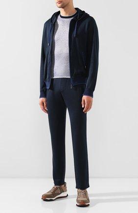Мужская футболка из смеси льна и шелка ZILLI серого цвета, арт. MBT-NT500-JELI1/MC02 | Фото 2
