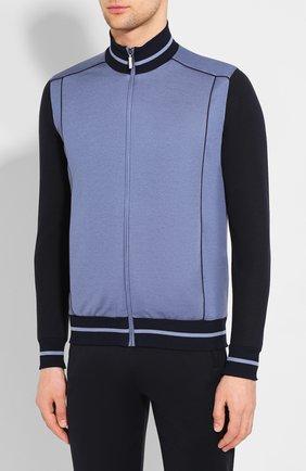 Мужской спортивный костюм из смеси хлопка и шелка ZILLI синего цвета, арт. MBT-J0227-JED01/ML02 | Фото 2