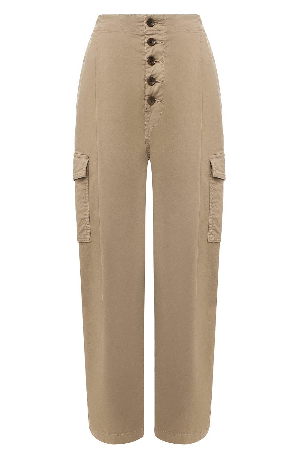 Женские хлопковые брюки J BRAND хаки цвета, арт. JB002859   Фото 1