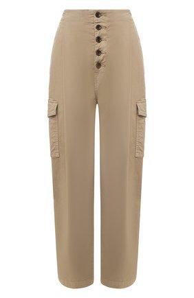 Женские хлопковые брюки J BRAND хаки цвета, арт. JB002859 | Фото 1