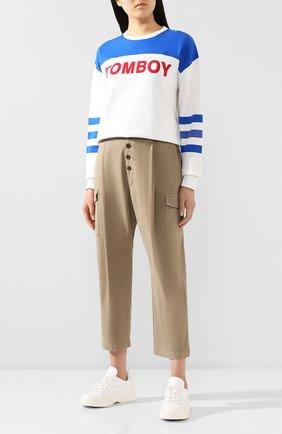 Женские хлопковые брюки J BRAND хаки цвета, арт. JB002859 | Фото 2
