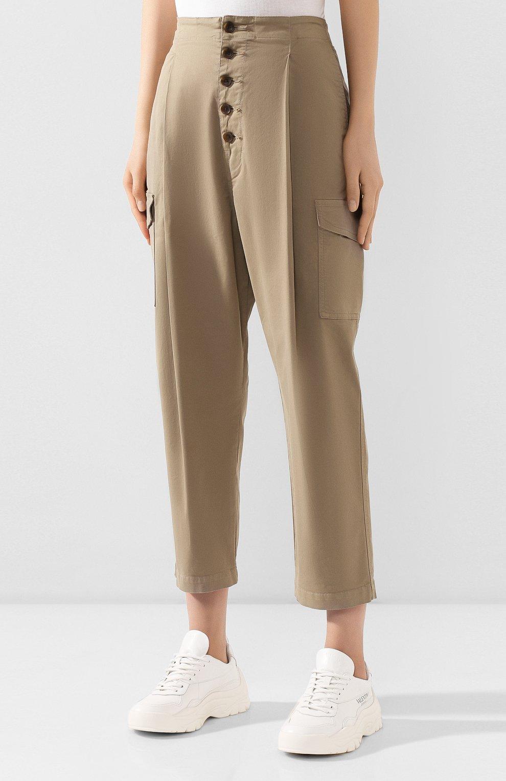 Женские хлопковые брюки J BRAND хаки цвета, арт. JB002859   Фото 3