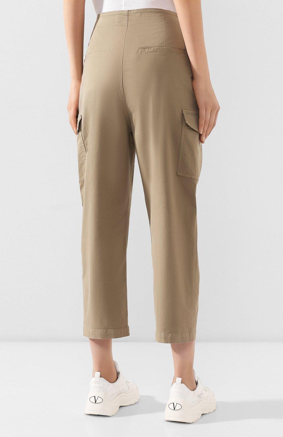 Женские хлопковые брюки J BRAND хаки цвета, арт. JB002859   Фото 4