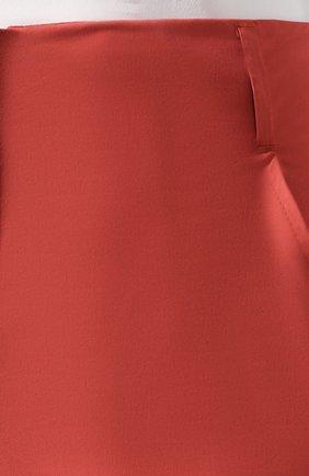 Женские хлопковые шорты LORENA ANTONIAZZI оранжевого цвета, арт. E2003PA098/3193 | Фото 5 (Женское Кросс-КТ: Шорты-одежда; Длина Ж (юбки, платья, шорты): Мини; Материал внешний: Хлопок; Стили: Минимализм, Кэжуэл)