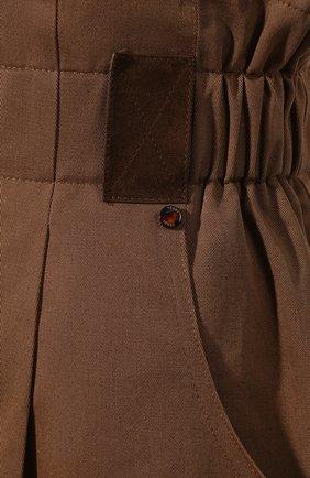 Женские хлопковые шорты FENDI коричневого цвета, арт. FR6256 A5YS | Фото 5 (Женское Кросс-КТ: Шорты-одежда; Длина Ж (юбки, платья, шорты): Мини; Материал внешний: Хлопок; Стили: Кэжуэл)