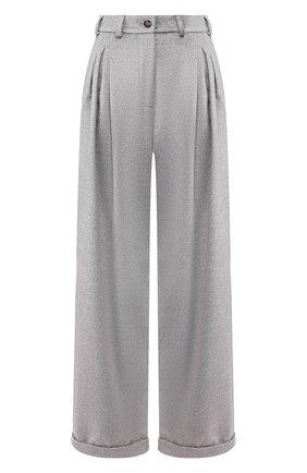 Женские брюки из смеси шерсти и вискозы PEFORGIRLS серого цвета, арт. PE.100.2022.01.30107.004 | Фото 1