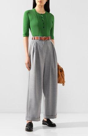 Женские брюки из смеси шерсти и вискозы PEFORGIRLS серого цвета, арт. PE.100.2022.01.30107.004 | Фото 2