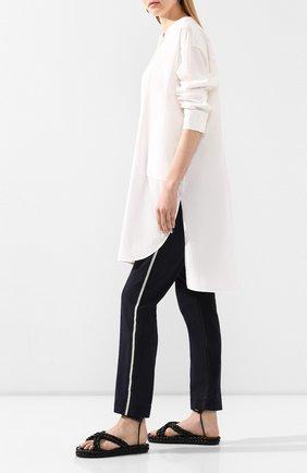 Женские хлопковые брюки ZADIG&VOLTAIRE черного цвета, арт. SJC00101F   Фото 2