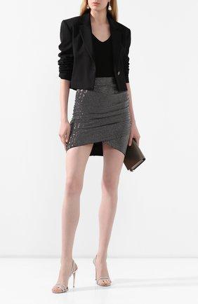 Женская мини-юбка PHILIPP PLEIN серебряного цвета, арт. P20C WRV0265 PTE003N | Фото 2
