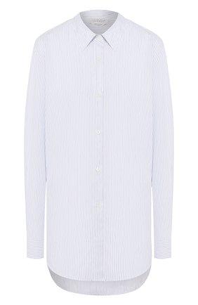 Женская рубашка из смеси хлопка и льна GABRIELA HEARST голубого цвета, арт. 220118/LI008/42/SAMPLE | Фото 1