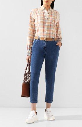 Женские джинсы JACOB COHEN синего цвета, арт. BRENDA AC 01915-W2/53 | Фото 2