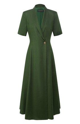 Женское платье из вискозы BRANDON MAXWELL зеленого цвета, арт. DR227SS20 | Фото 1