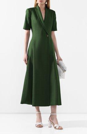 Женское платье из вискозы BRANDON MAXWELL зеленого цвета, арт. DR227SS20 | Фото 2