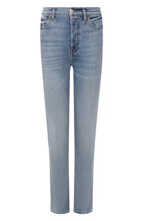 Женские джинсы RE/DONE голубого цвета, арт. 190-3WDNLL/HAZEY INDIG0 | Фото 1