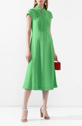 Женское платье из вискозы VICTORIA BECKHAM зеленого цвета, арт. 1220WDR001358A | Фото 2