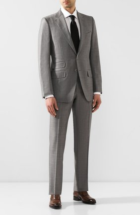 Мужские кожаные оксфорды TOM FORD темно-коричневого цвета, арт. J1030T/BET | Фото 2