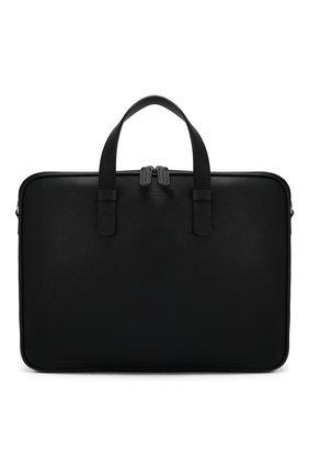 Мужской кожаный портфель GIORGIO ARMANI темно-синего цвета, арт. Y2P251/YDZ1J   Фото 1
