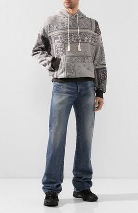 Мужской хлопковое худи AMIRI серого цвета, арт. Y0M02369TE | Фото 2