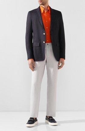 Мужская льняная рубашка ZILLI оранжевого цвета, арт. MFT-MERCU-12197/RZ01 | Фото 2