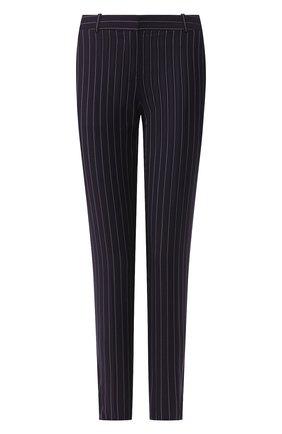 Женские шерстяные брюки BOSS темно-синего цвета, арт. 50425311 | Фото 1