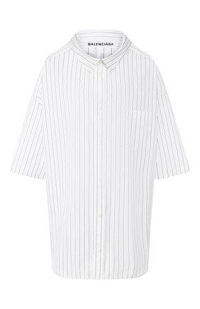Женская хлопковая рубашка BALENCIAGA белого цвета, арт. 622051/TIM35 | Фото 1