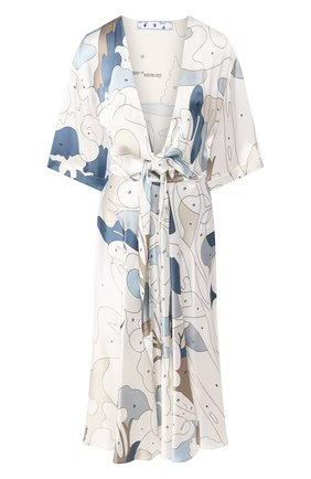 Женское платье из вискозы OFF-WHITE разноцветного цвета, арт. 0WDB219S20FAB0020106 | Фото 1