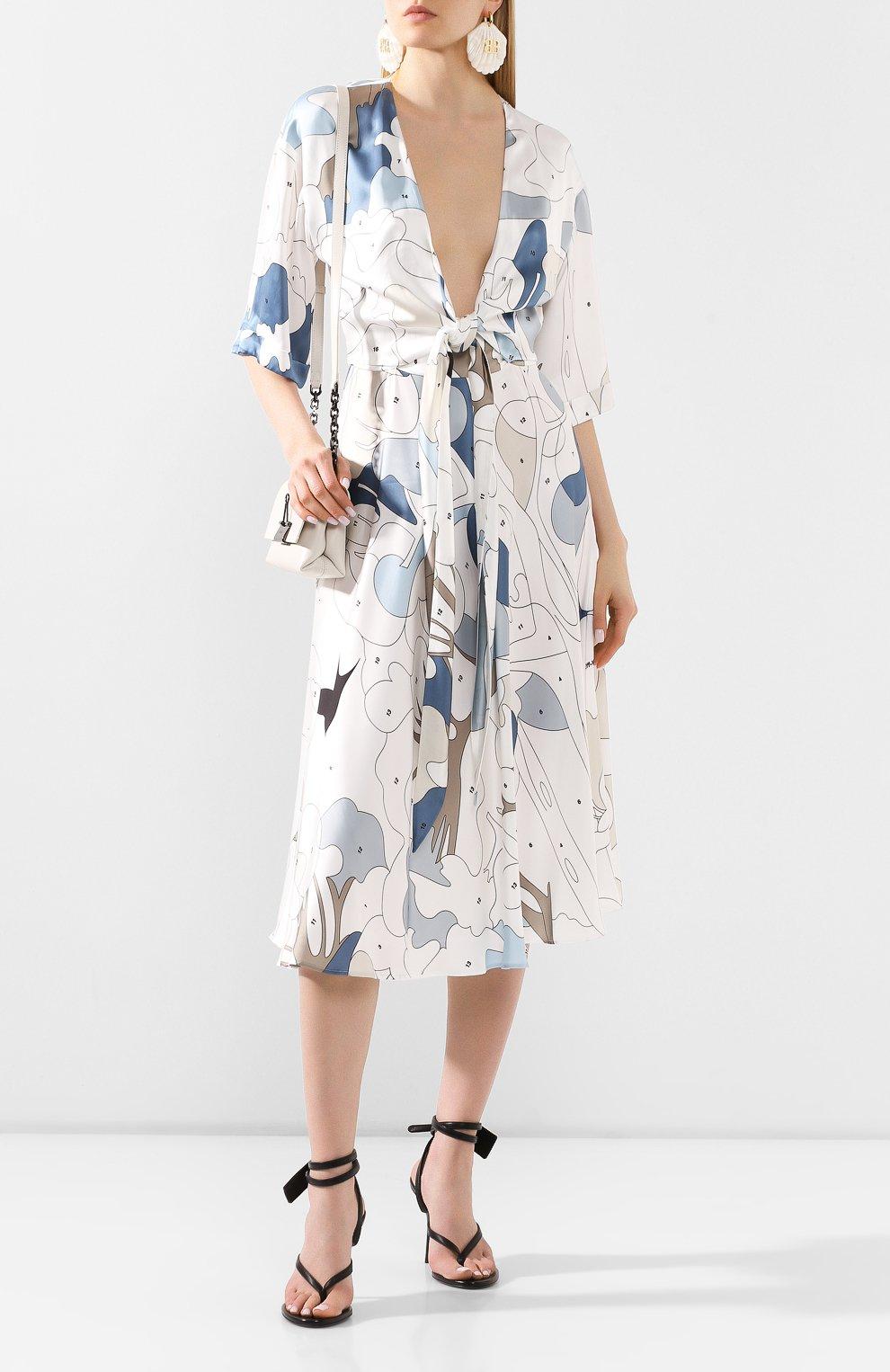 Женское платье из вискозы OFF-WHITE разноцветного цвета, арт. 0WDB219S20FAB0020106 | Фото 2