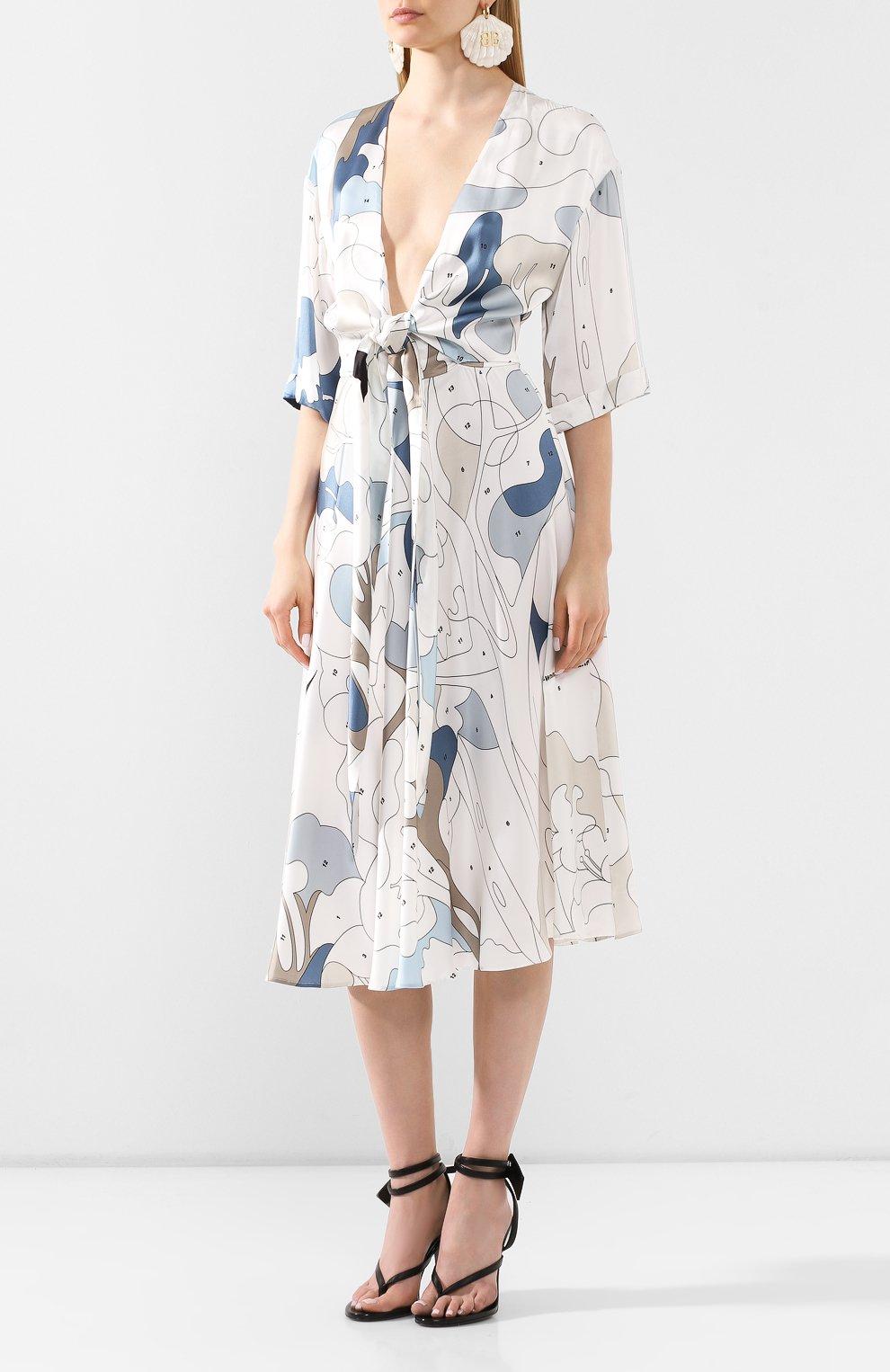 Женское платье из вискозы OFF-WHITE разноцветного цвета, арт. 0WDB219S20FAB0020106 | Фото 3