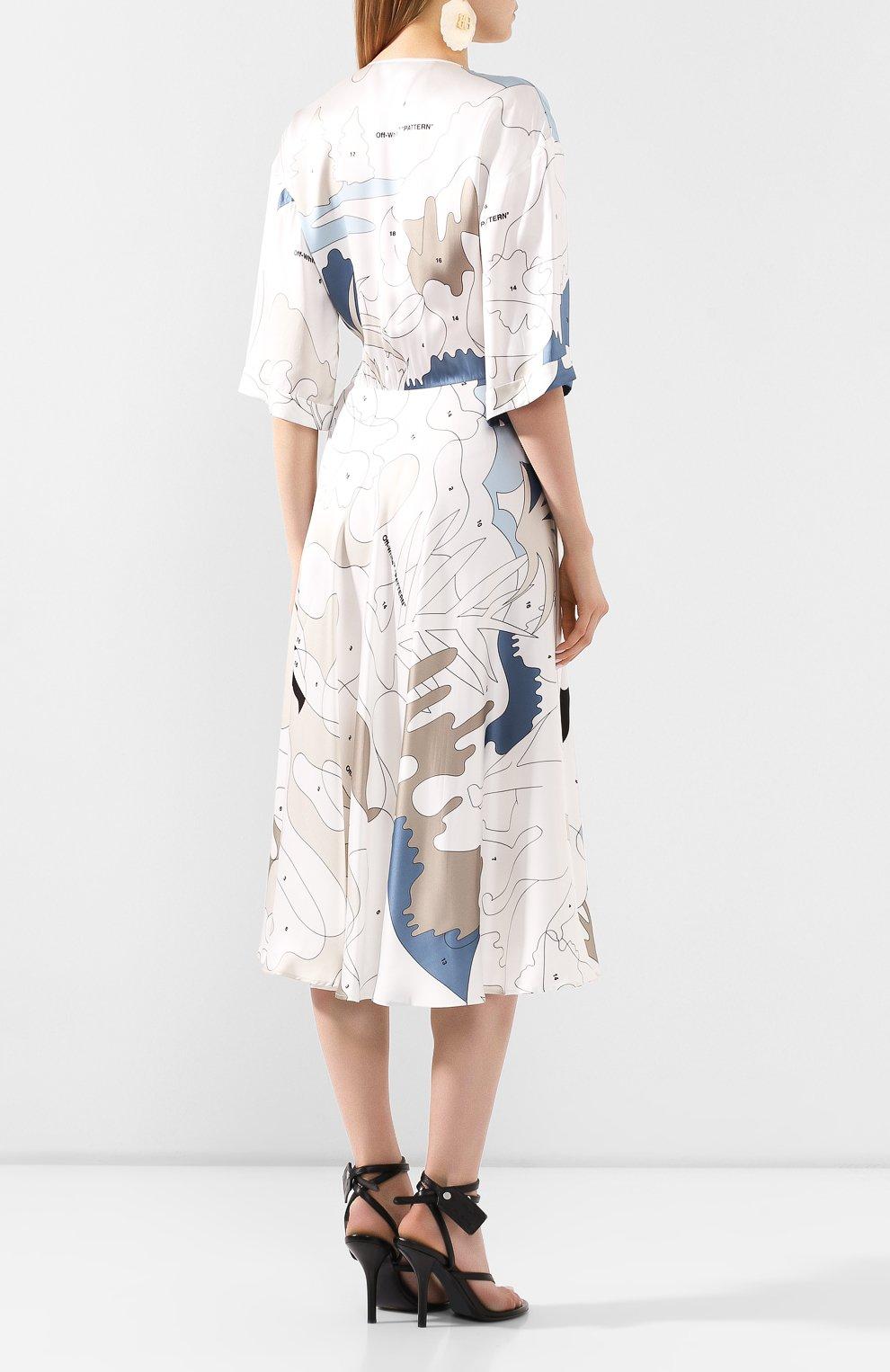Женское платье из вискозы OFF-WHITE разноцветного цвета, арт. 0WDB219S20FAB0020106 | Фото 4