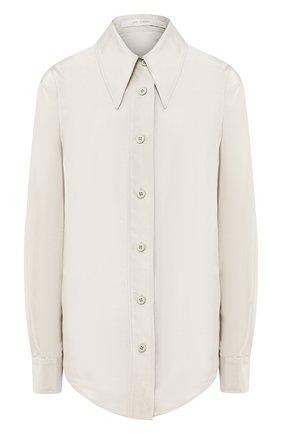 Женская рубашка из смеси хлопка и шелка LOW CLASSIC светло-зеленого цвета, арт. L0W20SS_SH09MT   Фото 1