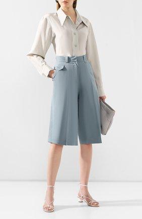 Женская рубашка из смеси хлопка и шелка LOW CLASSIC светло-зеленого цвета, арт. L0W20SS_SH09MT   Фото 2