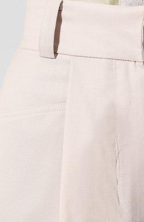 Женские шерстяные шорты LOW CLASSIC бежевого цвета, арт. L0W20SS_PT17LB   Фото 5 (Женское Кросс-КТ: Шорты-одежда; Материал внешний: Шерсть; Длина Ж (юбки, платья, шорты): Мини; Стили: Кэжуэл)